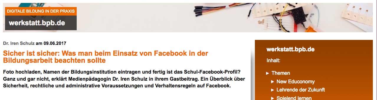 Facebook in der Bildung